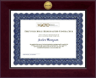 Mold Inspection Consulting and Remediation Organization Certificate Frame - Century Gold Engraved Certificate Frame in Cordova
