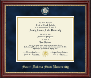 South Dakota State University Diploma Frame - Masterpiece Medallion Diploma Frame in Kensington Gold