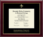 West Virginia State University Diploma Frame - Gold Embossed Diploma Frame in Gallery