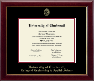 University of Cincinnati Diploma Frame - Gold Embossed Diploma Frame in Gallery
