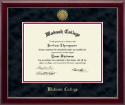Wabash College Diploma Frame - Gold Engraved Diploma Frame in Gallery