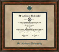 Saint Ambrose University Diploma Frame - Heirloom Edition Diploma Frame in Ashford