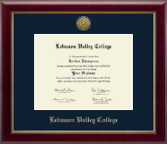 Lebanon Valley College Diploma Frame - Gold Engraved Medallion Diploma Frame in Gallery