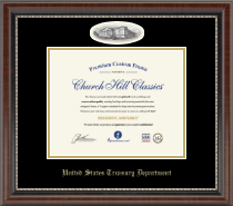 United States Treasury Department Certificate Frame - Campus Cameo Certificate Frame in Chateau