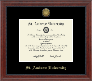 Saint Ambrose University Diploma Frame - Gold Engraved Diploma Frame in Signature