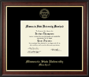 Minnesota State University Moorhead Diploma Frame - Gold Embossed Diploma Frame in Studio Gold