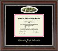 Minnesota State University Moorhead Diploma Frame - Campus Cameo Diploma Frame in Chateau