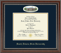 South Dakota State University Diploma Frame - Campus Cameo Diploma Frame in Chateau