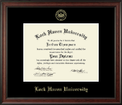 Lock Haven University Diploma Frame - Embossed Diploma Frame in Studio