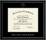 University of North Florida Diploma Frame - Silver Embossed Diploma Frame in Onexa Silver