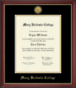 Mary Baldwin College Diploma Frame - Gold Engraved Diploma Frame in Kensington Gold