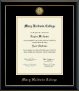 Mary Baldwin College Diploma Frame - Gold Engraved Diploma Frame in Onyx Gold