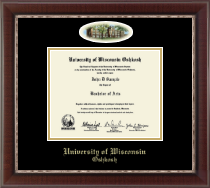 University of Wisconsin Oshkosh Diploma Frame - Campus Cameo Diploma Frame in Chateau