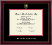 Sacred Heart University Diploma Frame - Gold Embossed Diploma Frame in Gallery