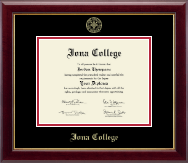 Iona College Diploma Frame - Gold Embossed Diploma Frame in Gallery