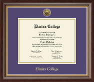Elmira College Diploma Frame - Gold Engraved Diploma Frame in Hampshire