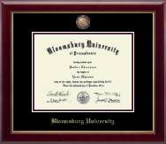 Bloomsburg University Diploma Frame - Masterpiece Medallion Diploma Frame in Gallery