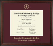 Cossatot Community College University of Arkansas Diploma Frame - Gold Embossed Diploma Frame in Studio