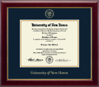 University of New Haven Diploma Frame - Gold Embossed Diploma Frame in Gallery