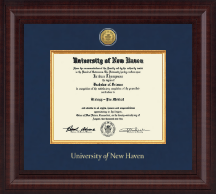 University of New Haven Diploma Frame - Presidential Gold Engraved Diploma Frame in Premier