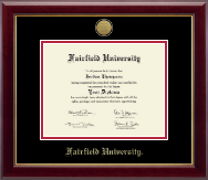 Fairfield University Diploma Frame - Gold Engraved Diploma Frame in Gallery
