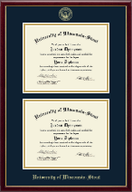University of Wisconsin-Stout Diploma Frame - Double Diploma Frame in Galleria