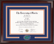 University of Florida Diploma Frame - Spirit Medallion Diploma Frame in Encore