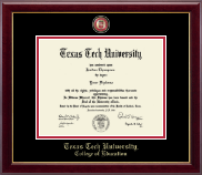 Texas Tech University Diploma Frame - Masterpiece Medallion Diploma Frame in Gallery