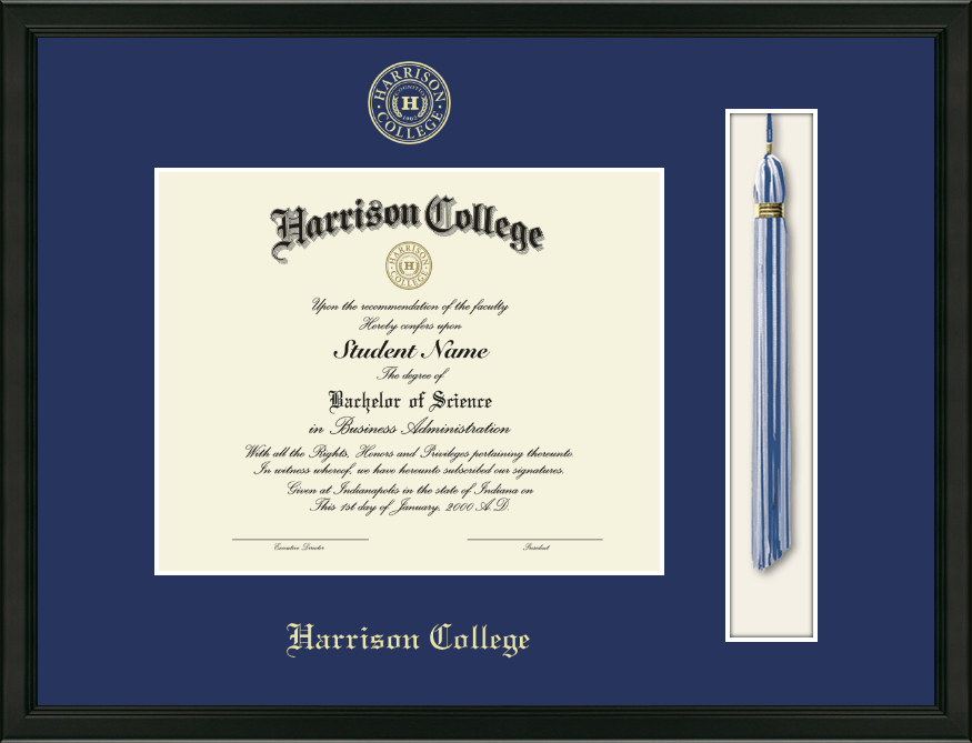 Harrison College Tassel Edition Diploma Frame in Omega - Item ...