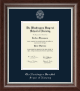 The Washington Hospital School of Nursing Diploma Frame - Silver Embossed Diploma Frame in Devonshire