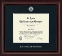 The University of Tennessee Knoxville Diploma Frame - Presidential Silver Engraved Diploma Frame in Premier