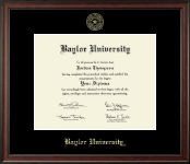Baylor University Diploma Frame - Gold Embossed Diploma Frame in Studio