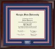 Georgia State University Diploma Frame - Spirit Medallion Edition Diploma Frame in Encore