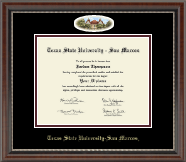 Texas State University San Marcos Diploma Frame - Campus Cameo Diploma Frame in Chateau