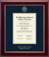 The Washington Hospital School of Nursing Diploma Frame - Gold Embossed Diploma Frame in Gallery