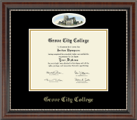 Grove City College Diploma Frame - Campus Cameo Diploma Frame in Chateau