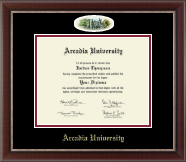Arcadia University Diploma Frame - Campus Cameo Diploma Frame in Chateau