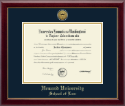 Howard University School of Law Diploma Frame - Gold Engraved Medallion Diploma Frame in Gallery