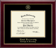 Rush University Diploma Frame - Gold Embossed Diploma Frame in Gallery