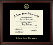 Athens State University Diploma Frame - Gold Embossed Diploma Frame in Studio
