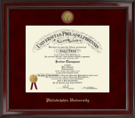 Philadelphia University Diploma Frame - Gold Engraved Medallion Diploma Frame in Encore