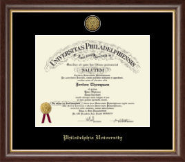 Philadelphia University Diploma Frame - Gold Engraved Medallion Diploma Frame in Hampshire