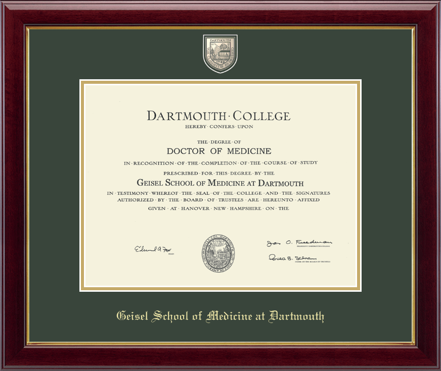 Dartmouth College Masterpiece Medallion Diploma Frame In