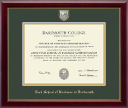 Dartmouth College Diploma Frame - Masterpiece Medallion Diploma Frame in Gallery