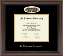 St. Lawrence University Diploma Frame - Campus Cameo Diploma Frame in Chateau
