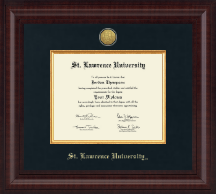 St. Lawrence University Diploma Frame - Presidential Gold Engraved Diploma Frame in Premier