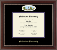 McKendree University Diploma Frame - Campus Cameo Diploma Frame in Chateau