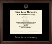 Iowa State University Diploma Frame - Gold Embossed Diploma Frame in Studio Gold