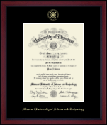 Missouri University of Science and Technology Diploma Frame - Gold Embossed Achievement Edition Diploma Frame in Academy