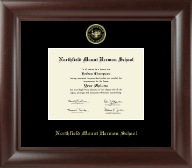 Northfield Mount Hermon School Diploma Frame - Gold Embossed Diploma Frame in Rainier